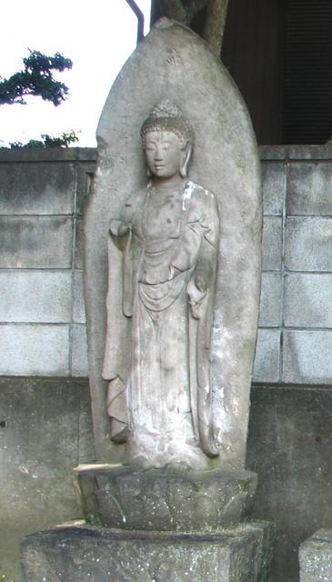 01 万治三年銘の阿弥陀如来像庚申塔(称専寺境内)